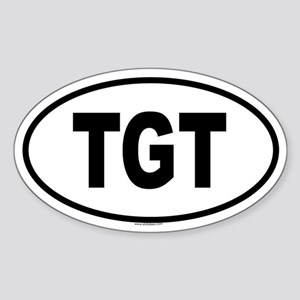 TGT Oval Sticker