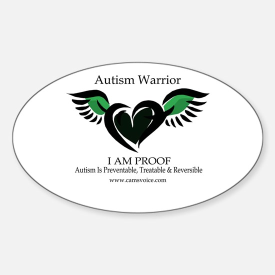 Autism Warrior. Sticker (Oval)