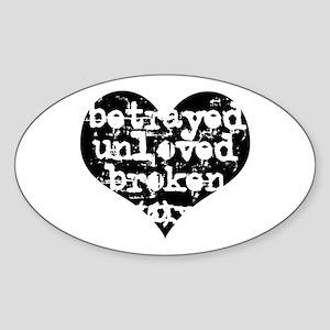 Betrayed Oval Sticker