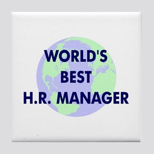 World's Best Human Resources Tile Coaster
