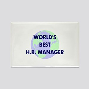 World's Best Human Resources Rectangle Magnet