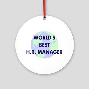 World's Best Human Resources Ornament (Round)