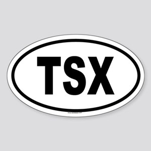 TSX Oval Sticker