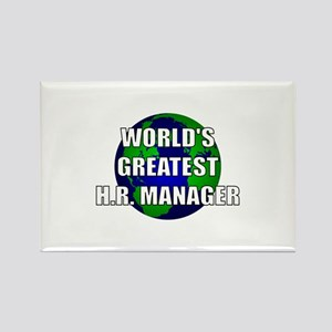 World's Greatest Human Resour Rectangle Magnet
