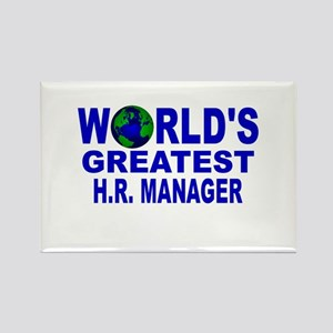 World's Greatest H.R. Manager Rectangle Magnet