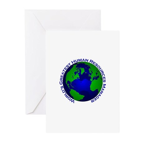 World's Greatest Human Resour Greeting Cards (Pk o