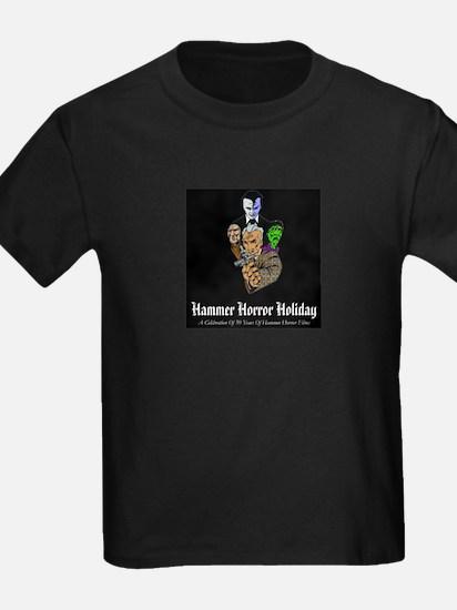Hammer Horror Holiday Logo Kids Black T-Shirt