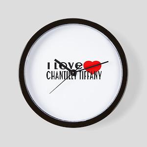 I Love chantilly tiffany Wall Clock