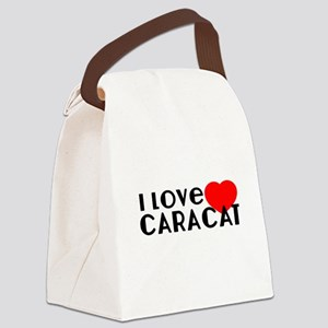 I Love caracat Canvas Lunch Bag