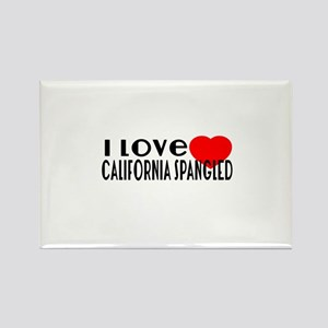 I Love california spangled Rectangle Magnet