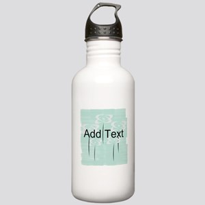 Cool Mint Floral Water Bottle