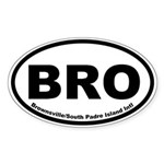 Brownsville/South Padre Island Intl Oval Sticker