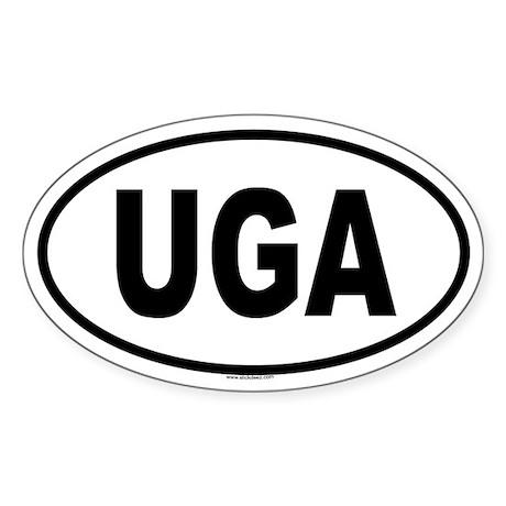 UGA Oval Sticker