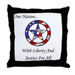 One Nation Pagan Throw Pillow