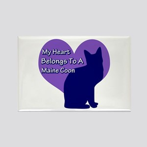 Maine Coon Heart Rectangle Magnet
