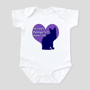 Maine Coon Heart Infant Bodysuit