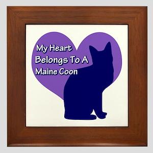 Maine Coon Heart Framed Tile