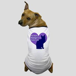 Maine Coon Heart Dog T-Shirt