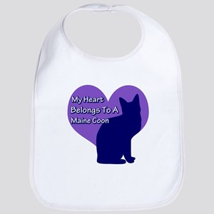 Maine Coon Heart Bib