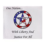 One Nation Pagan Throw Blanket