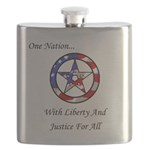 One Nation Pagan Flask