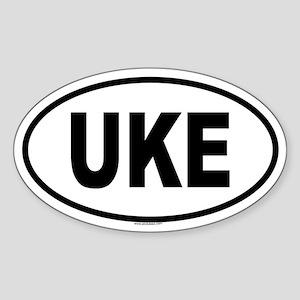 UKE Oval Sticker