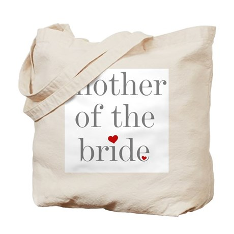 Grey Text Mother of the Bride Tote Bag
