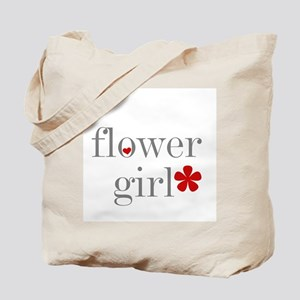Flower Girl Grey Text Tote Bag