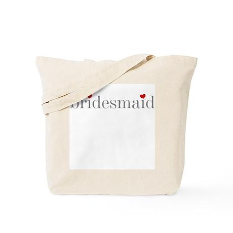 Bridesmaid Grey Text Tote Bag