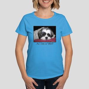 Cute Shih Tzu Dog Women's Dark T-Shirt