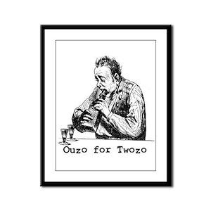 Ouzo for Twozo Framed Panel Print