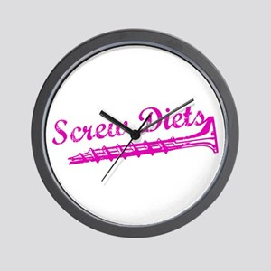 Screw Diets Wall Clock