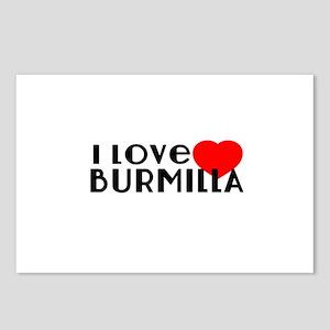 I Love Burmilla Postcards (Package of 8)