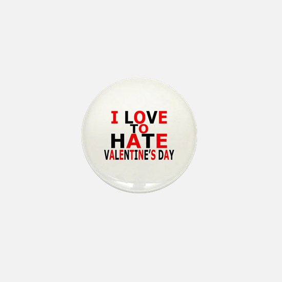 Love To Hate V-Day Mini Button