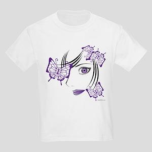 ANIME PURPLE FACE Kids Light T-Shirt