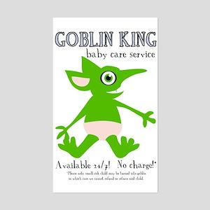 Goblin King Baby Care Rectangle Sticker