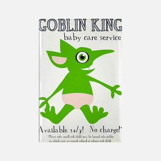 Goblin King Baby Care Rectangle Magnet