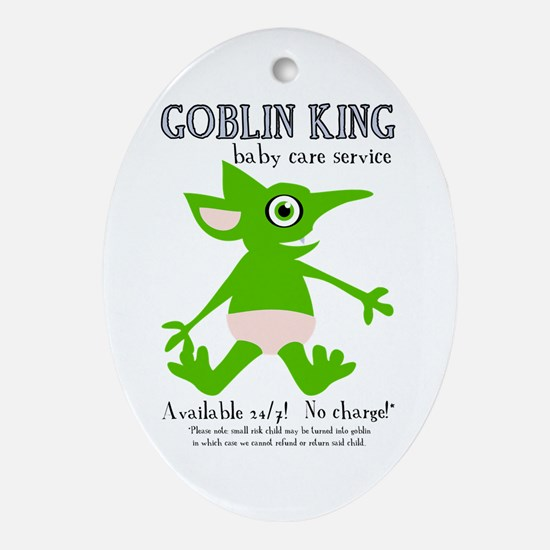 Goblin King Baby Care Oval Ornament