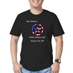 One Nation Pagan Men's Fitted T-Shirt (dark)