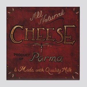 Cheese Label Art Tile Coaster