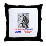 Huckabee/Darwin Throw Pillow