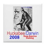 Huckabee/Darwin Tile Coaster