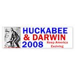 Huckabee/Darwin Bumper Sticker