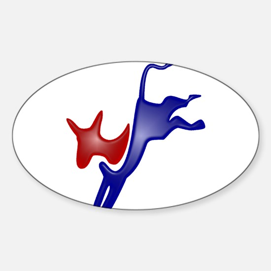 Democrat Oval Decal