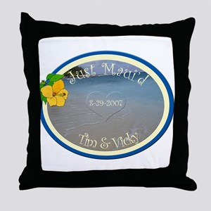 Tim and Vicky Just Maui'd Throw Pillow