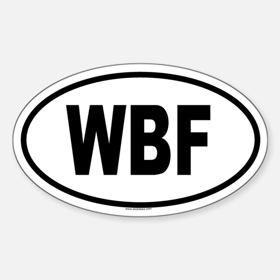 WBF Oval Decal