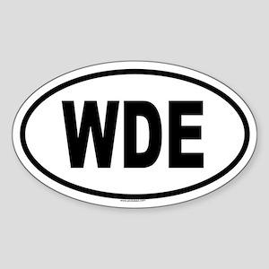 WDE Oval Sticker