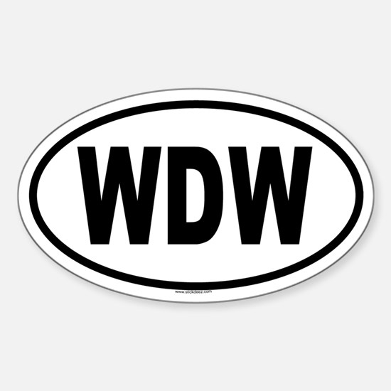 WDW Oval Decal