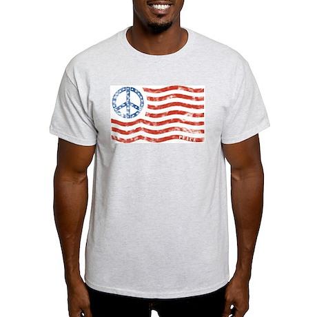 Peace Sign Flag Light T-Shirt