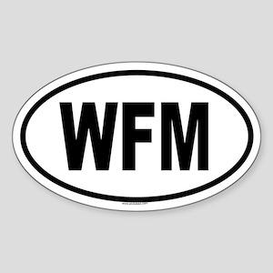 WFM Oval Sticker